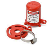 Brady Red Polypropylene Plug Valve Lockout 113231 - 1 to 8 in Compatible Diameter - 754473-17664