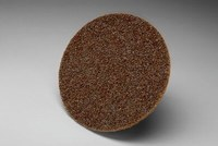 3M Scotch-Brite AL-DS Non-Woven Aluminum Oxide Maroon Surface Conditioning Quick Change Disc - Cloth Backing - A Weight - Medium - 3 in Diameter - 54118