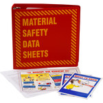 Brady Prinzing Yellow on Red MSDS & GHS Data Sheet Binder - MATERIAL SAFETY DATA SHEETS - English - 754473-43576