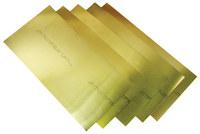 Precision Brand 260 Half Hard Brass Shim Stock - 6 in Width x 18 in Length x 0.015 in Thick - 17SN15