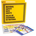 Brady Prinzing Black on Yellow MSDS & GHS Data Sheet Binder - MATERIAL SAFETY DATA SHEETS - English/Spanish - 754473-43584