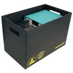 Protektive Pak Impregnated Corrugated Cardboard ESD / Anti-Static Storage Container - 22 7/8 in Length - 12 7/8 in Wide - 37514
