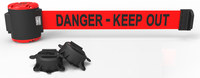 Banner Stakes Red Wall Mount Magnetic Belt Barrier - BANNER STAKES MH5009