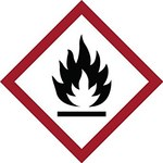 Brady 121189 Red / White / Black Diamond Polyester Fire Hazard Label - 4 in Width - 4 in Height - B-7541