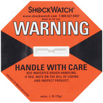 Shipping Supply Orange 75G Shock Watch Indicators - 1.8 in x 1.1 in x.2 in - SHP-8360