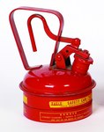 Eagle Red Galvanized Steel 1 qt Safety Can - 8 in Height - 5 1/4 in Overall Diameter - 048441-22111