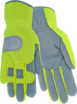Red Steer Ironskin 169 Gray/Green 2XL Synthetic Leather Work Gloves - Wing Thumb - 169-XXL