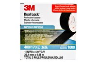 3M Dual Lock MP3551/52 Black Reclosable Fastener - Mushroom Hook with 400 stems/in Stem Count - 1 in Width x 5 yd Length - 06484