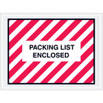 Red/White Packing List Enclosed Full Face Envelopes - 4.5 in x 6 in - 2 Mil Poly Thick - SHP-8205