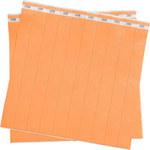 Brady Orange Tyvek ID Wristband 95102 - 1 in Width - 754476-90901