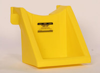 Eagle Yellow High Density Polyethylene 100 lb Drum Stacker Shelf - 19 in Width - 23 in Length - 19 in Height - 048441-00026