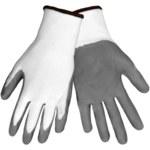 Global Glove 550E Gray/White 9 Nylon Work Gloves - Nitrile Palm Only Coating - 550E/9