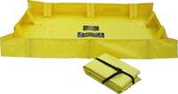 Brady Yellow Neoprene 119 gal Portable Berm 110549 - 4 ft Width - 8 ft Length - 8 in Height - 662706-83586
