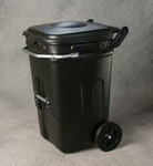 Eagle Black HDPE Waste Cart - 30 in Width - 26 in Length - 44 in Height - 048441-00883