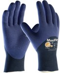 PIP MaxiFlex Elite 34-245 Black/Blue X-Small Nitrile Work Gloves - 17 in Length - 616314-28080