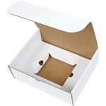 Shipping Supply Oyster White CD Literature Mailer Kits - 11.125 in x 8.75 in x 4 in - SHP-2813