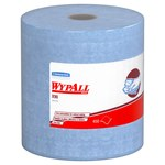 Kimberly-Clark Wypall X90 Denim Blue Hydroknit Wiper - Roll - 450 sheets per roll - 13.4 in Overall Length - 11.1 in Width - 12889