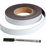 Brady 56961 White Magnetic Sheeting Magnetic Strips - 1 in Width - Sheet