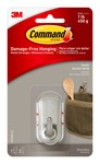 3M Command 17072BN Plastic Metallic Coated Accent Hook - 2 1/8 in Length x 1 in Width 1 lb Weight Capacity - 33145
