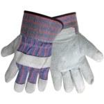 Global Glove 2300 Brown Large Split Cowhide Leather Work Gloves - Wing Thumb - 2300/LG