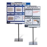 Brady Polystyrene Foam Core Rectangle Gray Communication Boards - 37 1/4 in Width x 34 1/4 in Height - Self-Adhesive - 114614