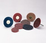Standard Abrasives Non-Woven A/O Aluminum Oxide AO Quick Change Surface Conditioning Disc - Coarse - 4 1/2 in Diameter - 843537
