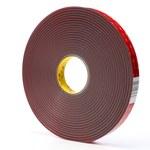 3M 4956F Gray VHB Tape - 1 in Width x 36 yd Length - 62 mil Thick - 24374