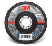 3M 769F Coated Type 27 Aluminum Oxide/Ceramic PSG Purple Flap Disc - 60+ Grit - Medium - 5 in Diameter - 7/8 in Center Hole - 05918