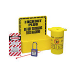 Brady Prinzing Black/Yellow Acrylic Lockout Device Station - 8.5 in Width - 8.5 in Height - 754476-45529