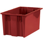 Red Stack & Nest Containers - 16 in x 10 in x 8.875 in - SHP-3038