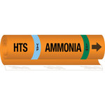 Brady 145775 Orange/Black/Blue/Green Polyester Ammonia Pipe Marker - 10 in Width - 14 in Length with Right Arrow - B-689