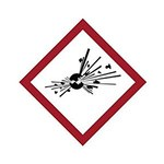 Brady 121188 Red / White / Black Diamond Polyester Fire Hazard Label - 1.5 in Width - 1.5 in Height - B-7541
