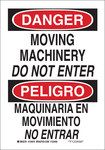 Brady B-555 Aluminum Rectangle White Equipment Safety Sign - 7 in Width x 10 in Height - Language English / Spanish - 124073