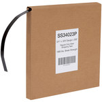 Shipping Supply Black Steel Strapping - 300 ft x 3/4 in -.023 Gauge Steel Thick - SHP-12637