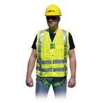 Miller HIVIZVEST Lime Yellow Large High-Visibility Vest - 612230-11417