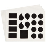Brady Quik-Align 5140-PUN Black Vinyl Punctuation Label Kit - Outdoor - 4 in Height - 4 in Character Height - B-933