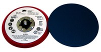3M Stikit 20351 Hard Red PSA Disc Pad - 5 in Diameter - 3/8 in Thick - 5/16-24 External Thread Attachment