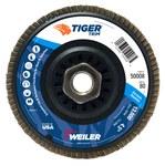 Weiler Non-Woven Type 29 Zirconium Flap Disc - 80 Grit - Medium - 4 1/2 in Diameter - 5/8 in Center Hole - 50008