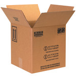 Shipping Supply Kraft 1 Gallon Plastic Jug Haz Mat Boxes - 12.0625 in x 12.0625 in x 12.75 in - SHP-2221