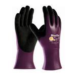 PIP MaxiDry 56-426 Black/Purple Large Lycra/Nylon Work Gloves - EN 388 1 Cut Resistance - Nitrile Palm & Fingers Coating - 9.8 in Length - 56-426/L