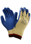 Ansell Powerflex 80-600 Blue/Yellow 9 Kevlar Cut-Resistant Glove - ANSI A2 Cut Resistance - Latex Palm Only Coating - 206410