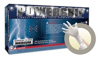 Microflex Powergrip PG-199 White Large Powdered Disposable Gloves - Industrial Grade - 9.6 in Length - Rough Finish - 4.7 mil Thick - PG-199-L