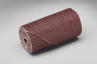 3M 341D Straight Aluminum Oxide Cartridge Roll - 80 Grit - X Weight - 2 in Length - 1 in Diameter - 1/4 in Center Hole - 97221