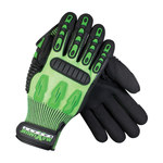 PIP Maximum Safety TuffMax3 120-5130 Green Large HPPE Glove - Nitrile Palm & Fingers Coating - 10.5 in Length - 120-5130/L