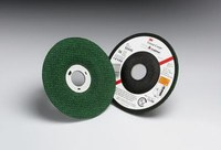3M Green Corps Ceramic Surface Grinding Wheel - 80 Grit - Medium Grade - 4 1/2 in Diameter - 7/8 in Center Hole - 1/8 in Thick - 50444
