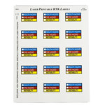 Brady 59243 Blue / Red / Yellow Vinyl Laser Printable Label - 2 in Width - 2 in Height - B-745