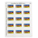 Brady 59243 Blue / Red / Yellow Vinyl Laser Printable Label - 2 in Width - 2 in Height - B-745