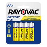 Rayovac Heavy Duty Standard Battery - Single Use Zinc Chloride AA - 5AA-4F