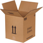 Shipping Supply Kraft 5 Gallon Haz Mat Boxes - 12.125 in x 12.125 in x 13.5625 in - SHP-2215