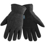 Global Glove 3300DSIN Large Split Deerskin Leather Cold Condition Glove - Wing Thumb - Fleece Insulation - 3300DSIN/LG